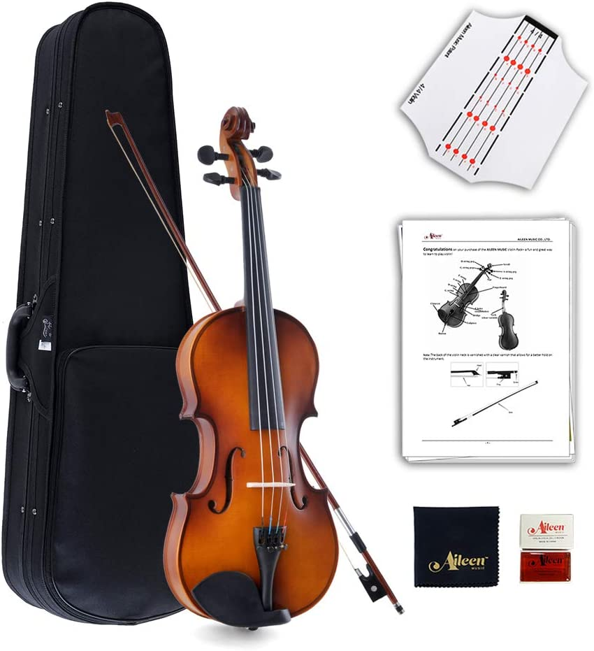 Aileen Violin Full Size 4/4 Outfit Solid Wood Students Adults Beginners Violin