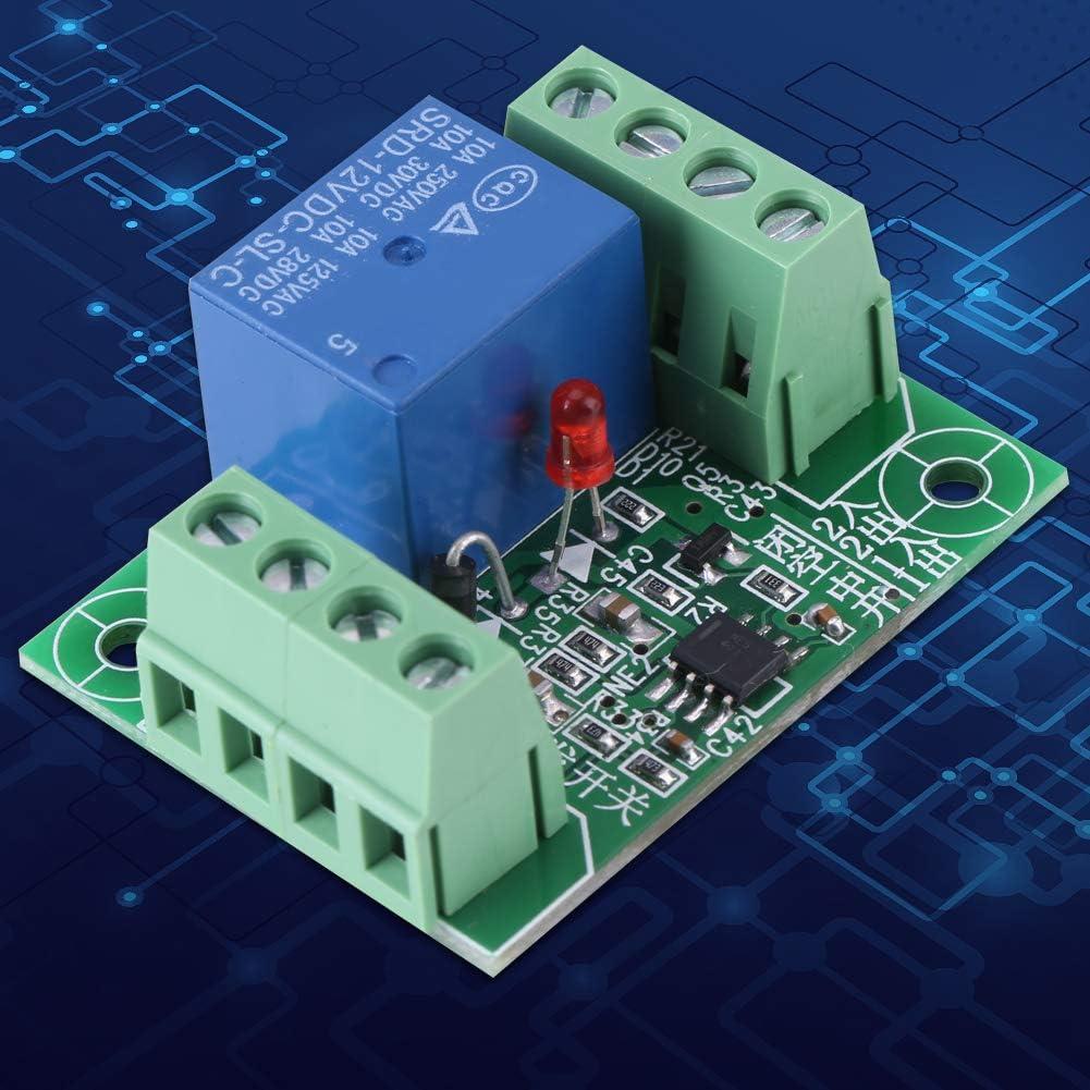 Module de relais Commutateur de d/éclenchement BiuZi 1Pc DC 12V Relais /à canal unique Circuit de d/éclenchement de circuit bistable typique Module de commande de relais