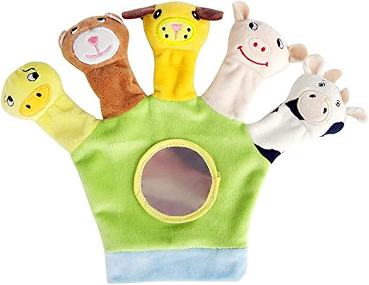 Family Hand Glove Puppet Soft Plush Doll Kid Baby Education Cartoon Animal Game