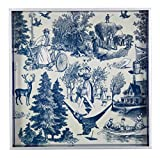 Country Harvest Square Wooden Tray Color: Indigo