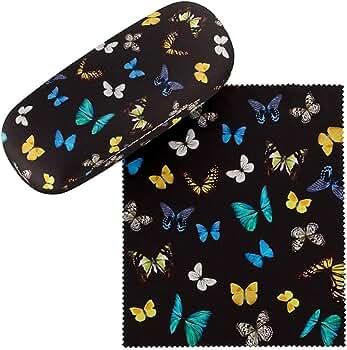 VON LILIENFELD Estuche Gafas Funda Ligeramente Estable Colorido Regalo Mujer Motivo Baile de Mariposas: Amazon.es: Ropa y accesorios