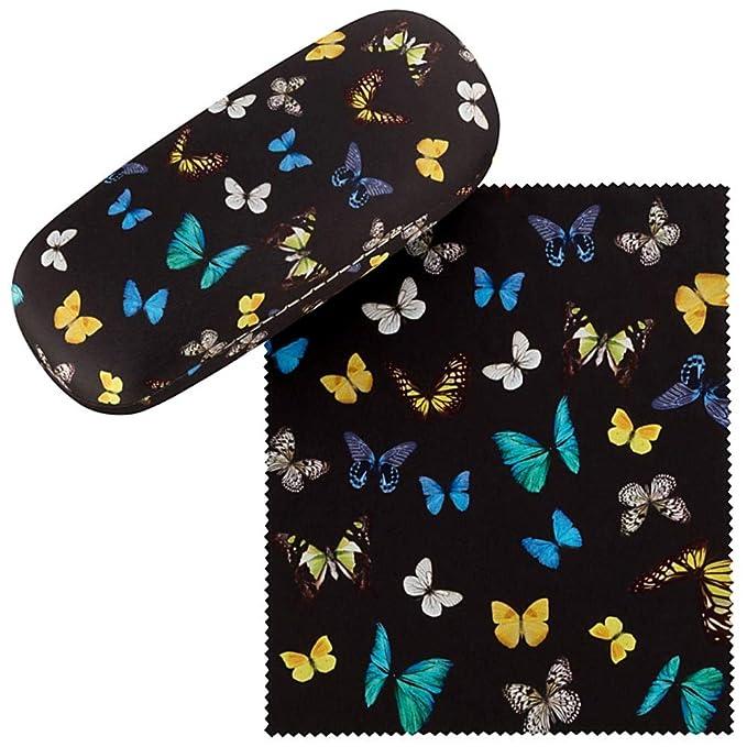 VON LILIENFELD Estuche Gafas Funda Mujer Motivo Baile de mariposas