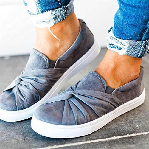 Sport Flats Women's Sneakers Loafer Casual Sandals Breathable Grey02 XMWEALTHY Shoes Slip on x0nUqCw171