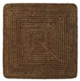 Placemats Chargers Rattan Wicker Set of 4 Place Mats Square 13 inches