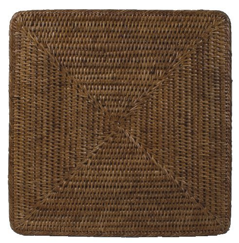 Placemats Chargers Rattan Wicker Set of 4 Place Mats Square 13 inches by Caspari