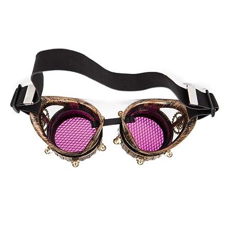 ZAIQUN - Gafas de soldar, Estilo Vintage, Estilo Vintage, Estilo Punk, gótico, para Halloween: Amazon.es: Hogar
