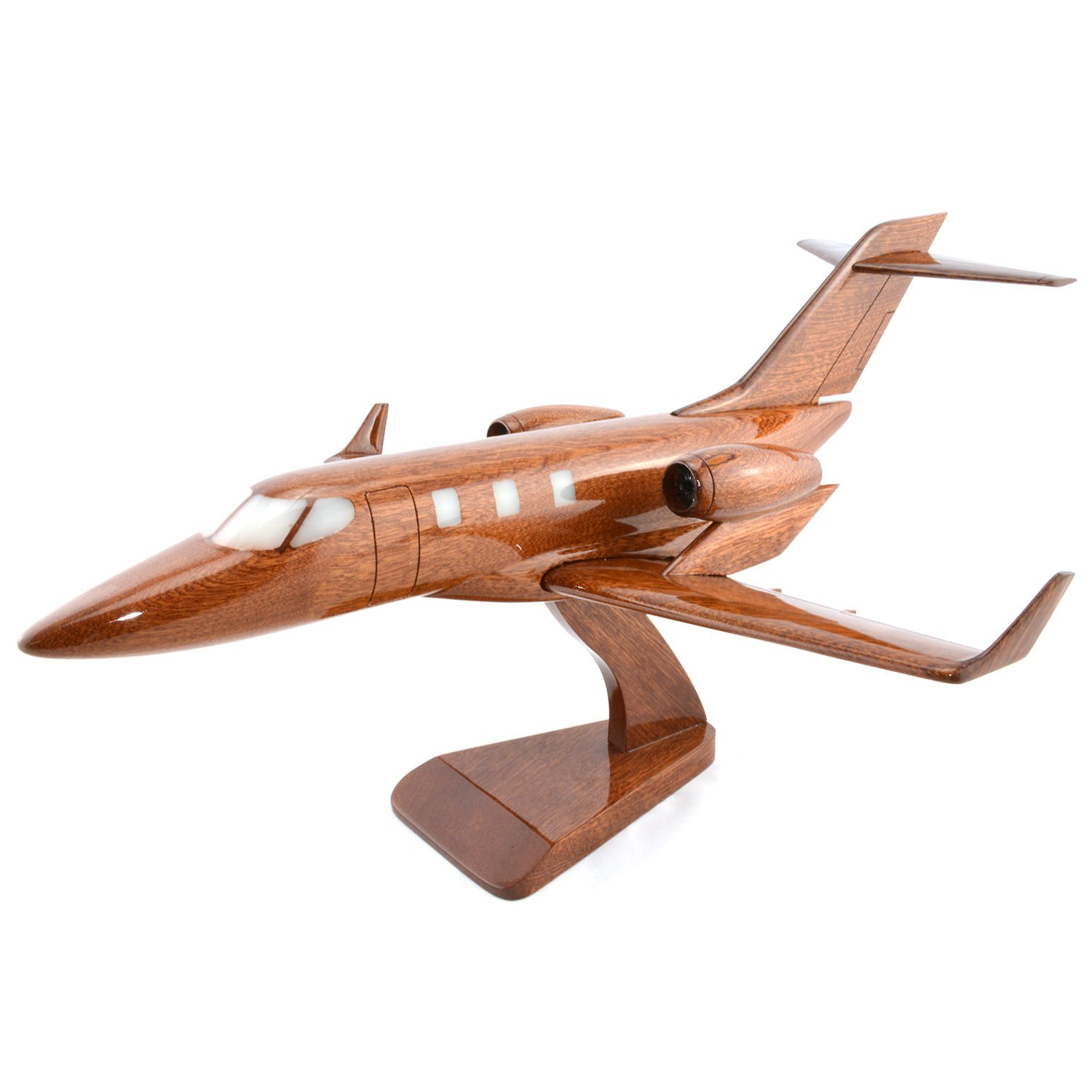 Shopping Zone Plus Boeing Honda Jet Wooden Airplane Big Model with Engraving Option, the Model Plane Includes Desk Stand