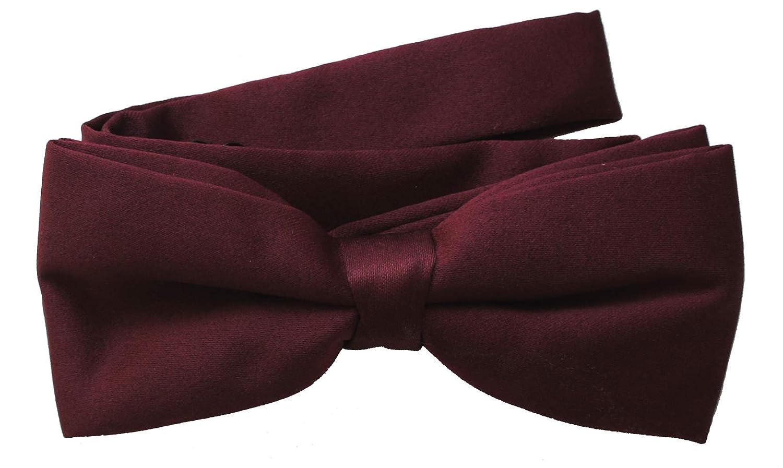 242c354041e6 Burgundy Pre-Tied Bow Tie: Amazon.co.uk: Clothing