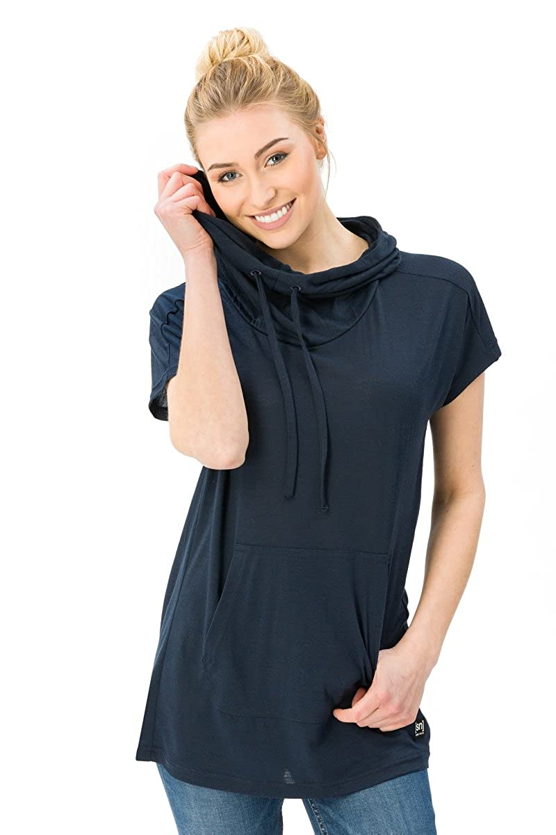 Womens super natural W Vacation Funnel Neck Womens T-Shirt Merino T-Shirt