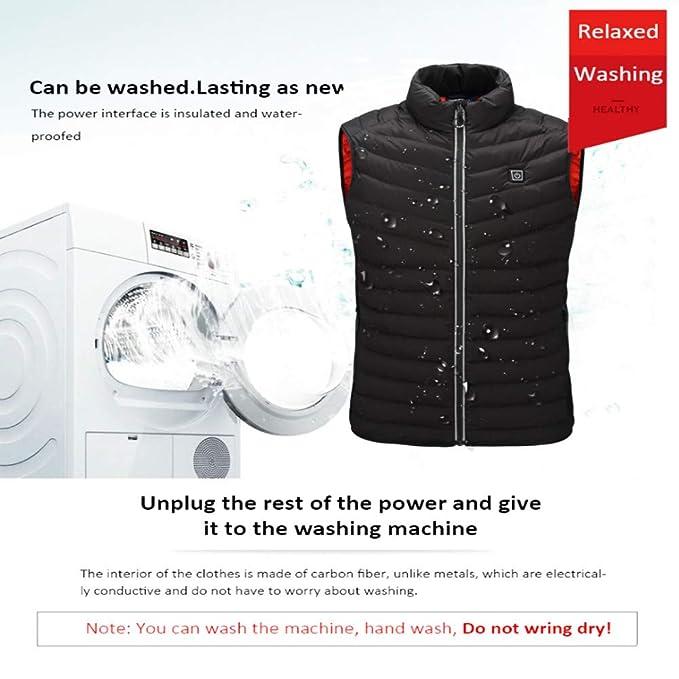 Amazon.com: Chaleco eléctrico calentado, chaqueta térmica ...