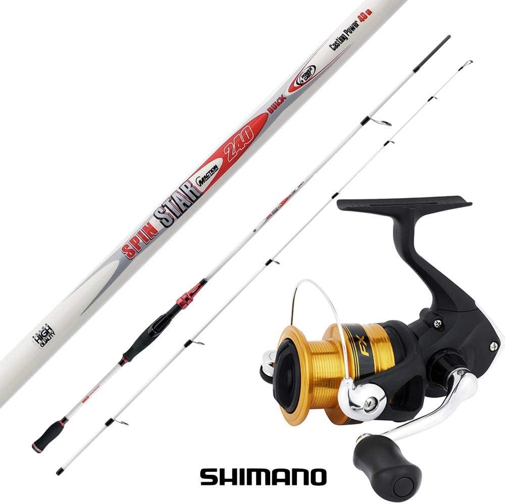 agc Kit Spinning Bulox Shimano Caña Bulox Spintar 2.40 m 15-45 g + ...