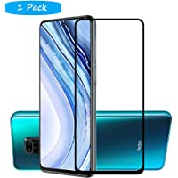 FanTing for Xiaomi Redmi Note 9S Screen Protector,[9H Hardness,Full Coverage,No bubbles and fingerprint],Scratch-resistant high-quality tempered glass film for Xiaomi Redmi Note 9S-Black(1 Pack)