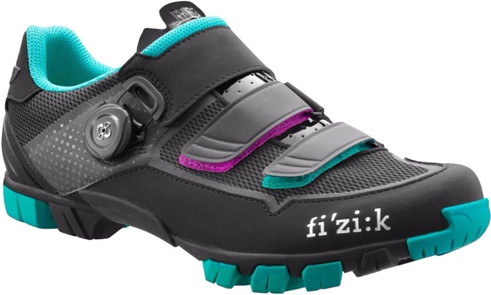Fizik Women's M6 Donna BOA Mountain Cycling Shoes, Black/Anthracite/Emerald Green, Size 40  Black/Anthracite/Emerald Green by Fizik