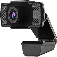 Webcam HD USB PC webbkamera med mikrofon, Mac bärbar dator skrivbordskamera, 110 ° vidvinkel, hopfällbar och roterande…