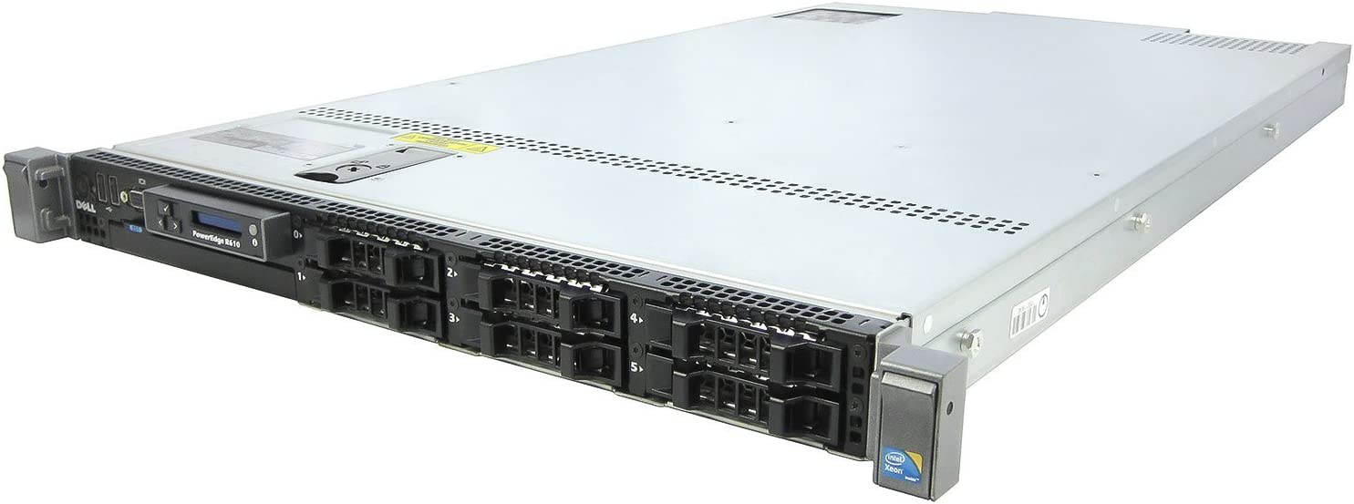 DELL PowerEdge R610 – 2x X5560 2.80GHz Quad Core - 6x 300GB SAS 48GB RAM 2PSU (Renewed)