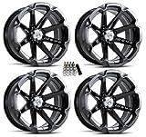MSA M12 Diesel ATV Wheels/Rims Black 14'' Polaris 2013 Ranger 900 XP (4)