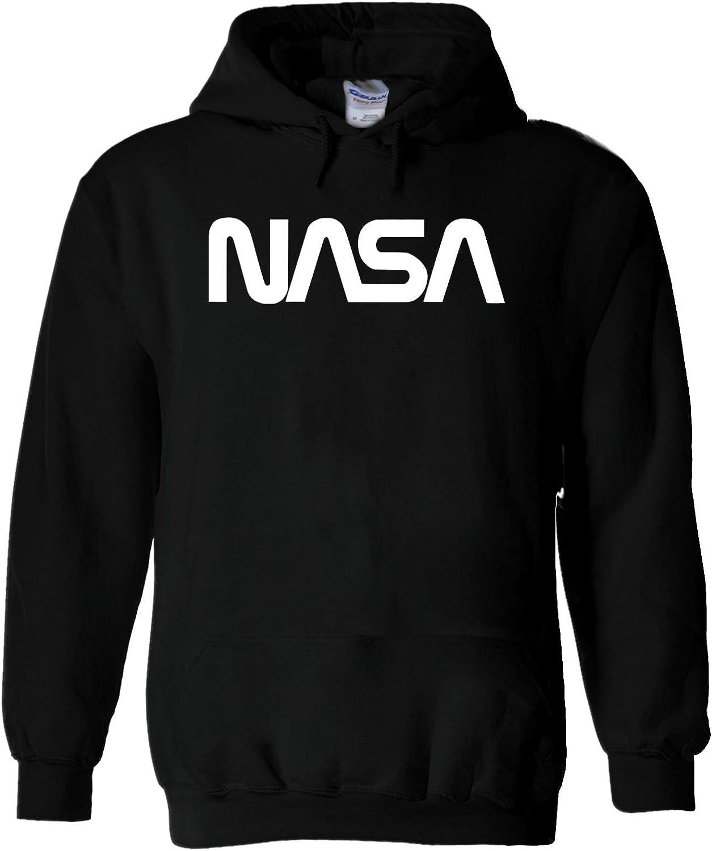 Nasa Retro Vintage Old Space Man Novelty White Men Women Unisex Hooded Sweatshirt Hoodie