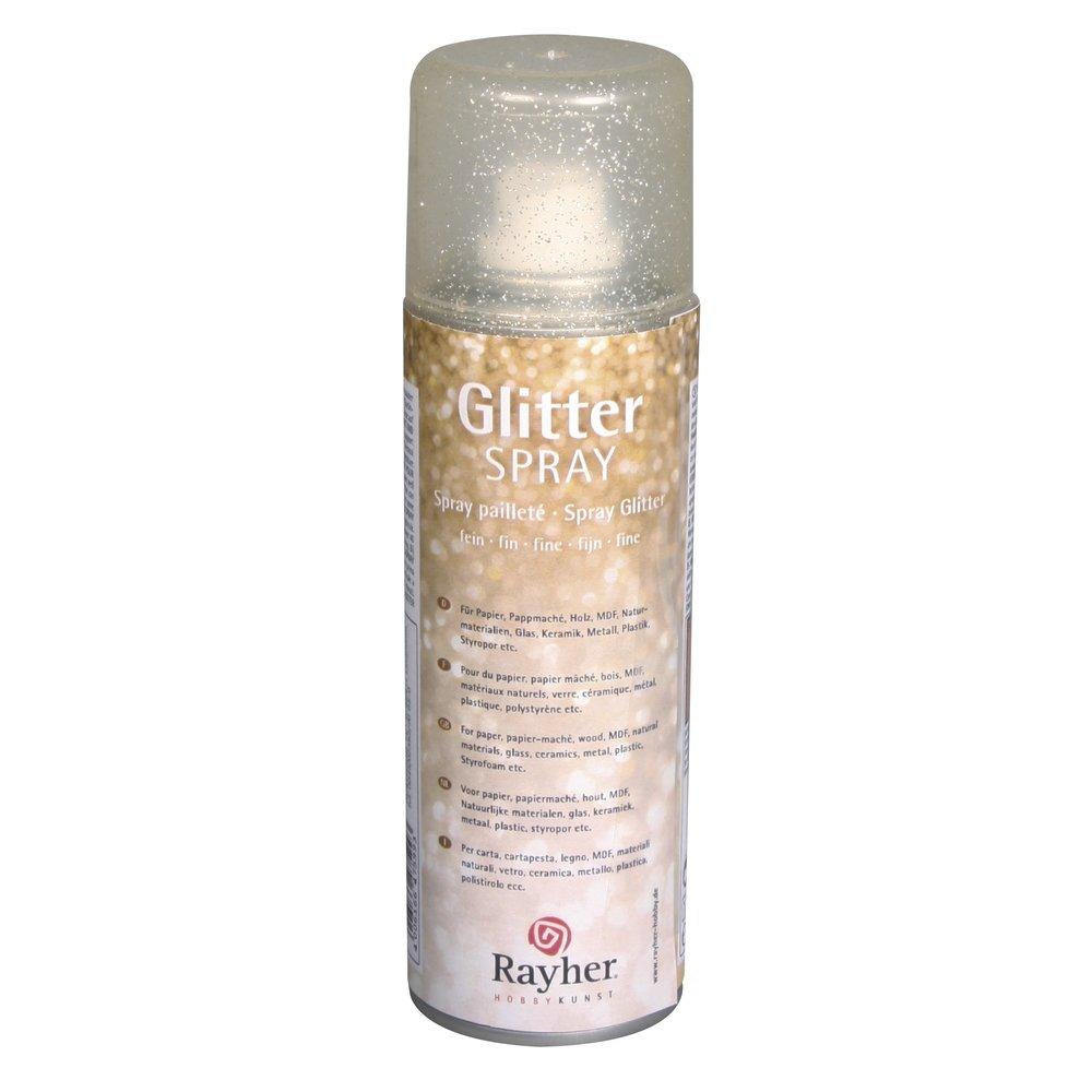 RAYHER HOBBY 34088616 Hochwertiger Glitzerspray mit goldenem Glimmer ...