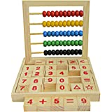 Wooden Abacus,Children Counting Number Maths ABC Blocks Baby Alphabet Letters Learning Early Educational Toy for Kids Toddler