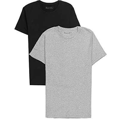 Under Armour Charged Cotton Crew Undershirt - 2-Pack XL True Gray Heather: Clothing