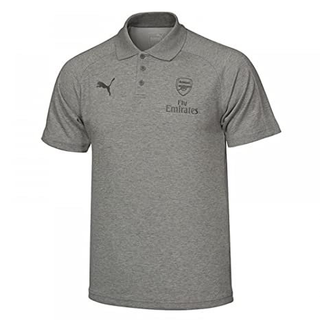 2017-2018 Arsenal Puma Casual Performance Polo Shirt (Grey) - Kids ...