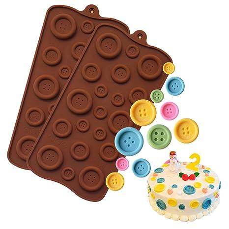 Molde de silicona para botones, molde de dulces, molde para ...