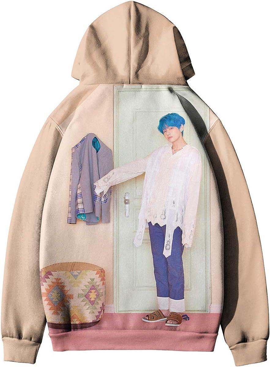 HAIZIVS Kpop BTS Unisex Kapuzenpullover 3D Digitaldruck Sweatshirt