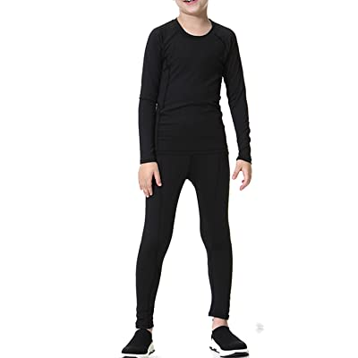 LNJLVI Boys&Grils Compression Set 2pcs Long Sleeve T-Shirt and Pants Cool Dry