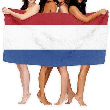 UCOLOR Aprons Toalla de Playa Bandera de los Países Bajos 80 cm X 130 cm Suave Ligero Absorbente para baño Piscina Yoga Pilates Picnic Manta Toallas: ...