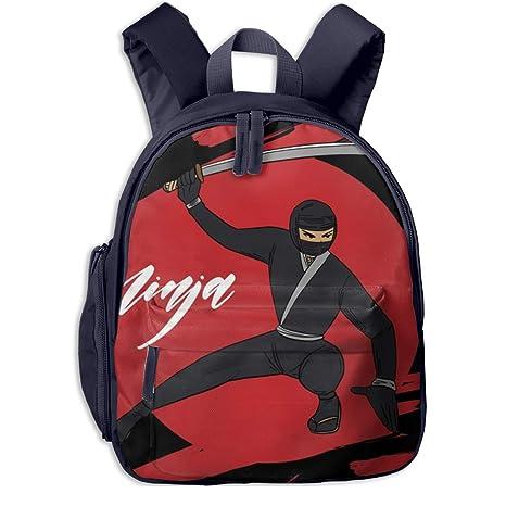 Amazon.com: IGYoh Ninja Warrior Background Cute School Bag ...