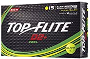 Top Flite D2+ Feel Yellow Golf Balls (15 Pack)