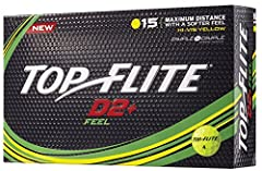 Fuse distance and shot-stopping control while playing D2+ Feel Golf Balls. Dimple in Dimple Aerodynamics employ superior design instead of hard compression to maintain spin and generate distance for all swing speeds. A softer, thinner ionomer...