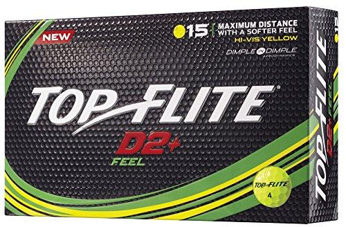 (Top Flite D2+ Feel Yellow Golf Balls (15 Pack))