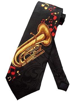 Corbata Hombre Tuba Jazz Marching Band Corbata Corbata Negra ...