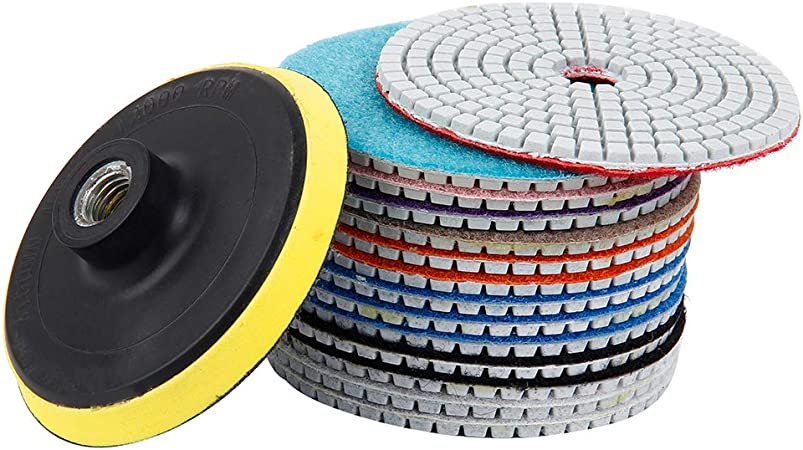 Wet Dry Diamond Polishing Pads Grinding Disc For Granite Marble Stone 100mm