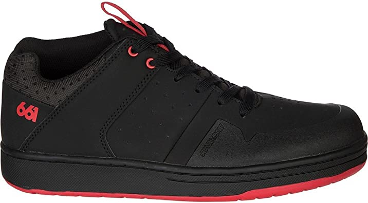 SixSixOne Filter Flat Cycling Shoes Black // Red
