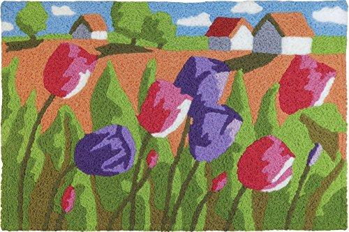Jellybean Tulip Field Garden Indoor/Outdoor Machine Washable 21