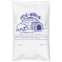 "Polar Tech IB6hielo Brix a prueba de fugas Gel viscoso refrigerante Poly Pack, 4"" de largo x 15.2cm de ancho x 3/4"" de grosor (caja de 48)"