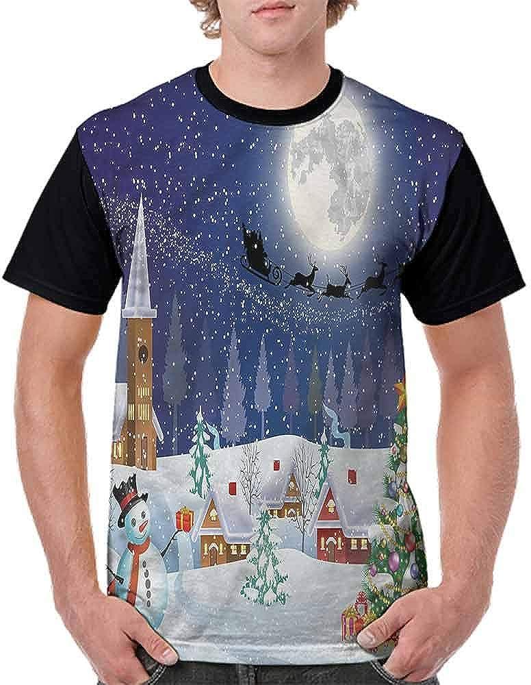 BlountDecor Cotton T-Shirt,Winter Celebration Fashion Personality Customization