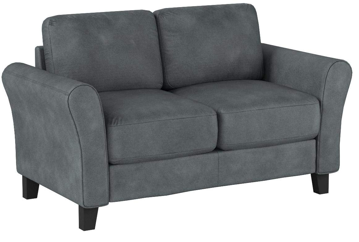 LifeStyle Solutions CCWENKS2M26DGRA Watford Loveseat in Grey, Dark by LifeStyle Solutions