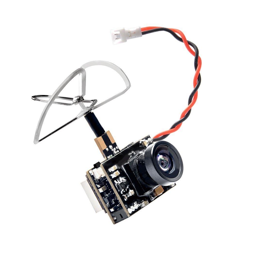 GOTOQOMO GT01 5,8GHz 600TVL Micro C/ámara AIO y 40CH 25mW FPV Video Transmisor Combinado con Antena de Tr/ébol para FPV Indoor Racing