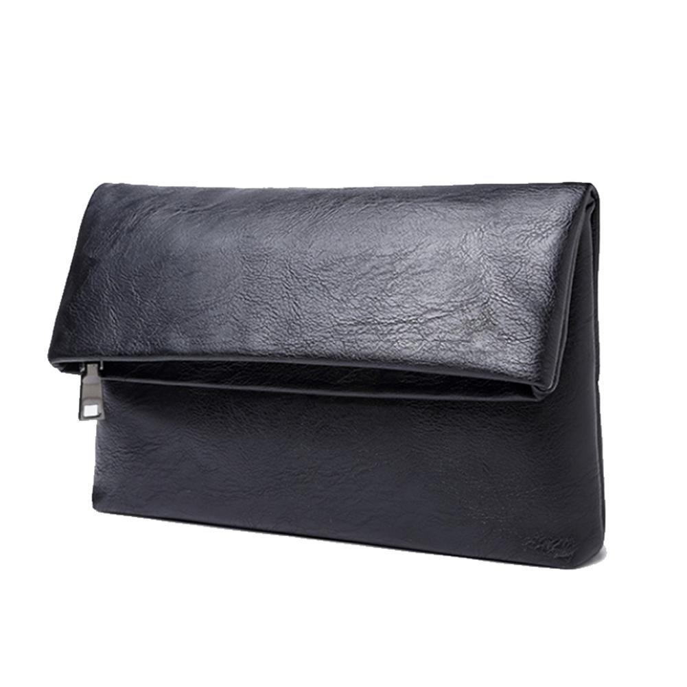 89f8ee2713 AIURBAG Cinturino in pelle PU borsetta portafoglio Business pochette con  rigido per uomini: Amazon.it: Sport e tempo libero