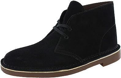 Llevando Aguanieve Aprovechar  Amazon.com | Clarks Men's Bushacre 2 Desert Boot (12, Black Suede) | Boots