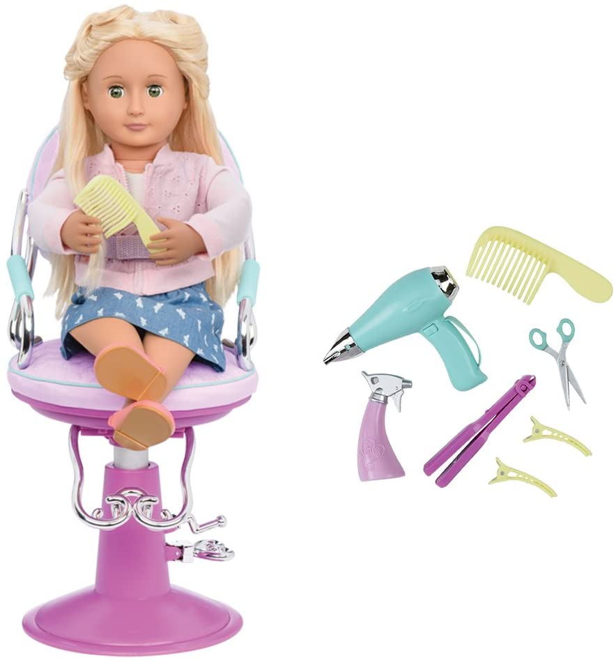 Our Generation bd37337/ /OG/ /Chaise de Coiffeur avec c/œur Violet