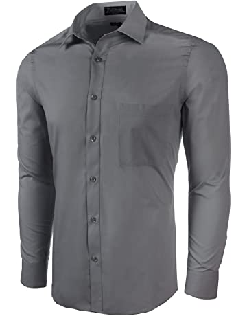3d343f16571 Marquis Men s Slim Fit Solid Dress Shirt - Available in Many Colors