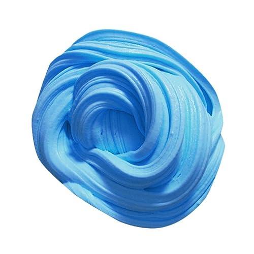 Slime Fluffy, Oyedens Novelty Fun Pâtes á Modeler Muqueux Soft Slime Collage Bricolage Scolaire Créatifs Filler Gift pour Enfants & Adultes (Bleu)