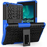 ROISKIN Dual Layer Heavy Duty Shockproof Impact Resistance Protective Case with Kickstand Compatible with Fire 7 Case 2019 Re