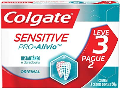 Creme Dental Colgate Sensitive Pro-Alívio Original 50G Promo Leve 3 Pague 2
