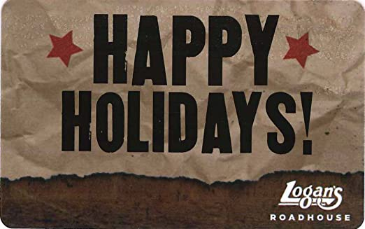 Amazon.com: Logan's Roadhouse Holiday Gift Card $25: Gift Cards