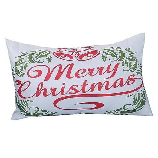 Rectángulo Navidad cojín manta funda de almohada caso mingfa ...
